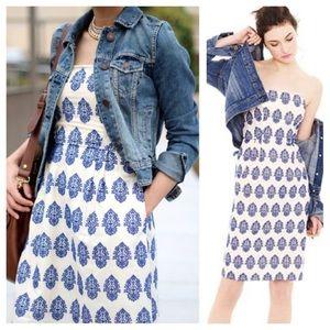 J Crew Filigree Embroidered Summer Dress
